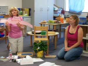 Jeannie & Michelle presenting on the role of the Montessori teacher!