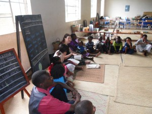 Kelsey teaching the Bible! Kelsey and Becca have been a great blessing to our school and to the Africa ABC Project Team. They have jumped in with two feet. What amazing women they are! So brave and loving! Amen!