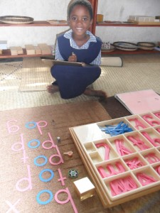 Montessori Word Building!
