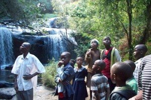Being quiet in the wonder of creation. Falls at Zomba. 