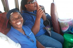 Big Smiles from our staff, Hilda and Tisu as they see the animals at Nyala Park. A very special thank you to Sean Saunders for our entrance to the Park! 