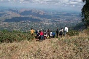 Top of the Zomba Plateau! A special thank you to Auswald from Malawi Wildlife and Conservation Society!