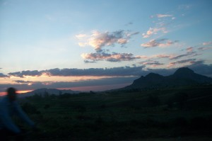 The children traveled back late each evening. Here is a Malawian sunset for you! There is nothing like it.