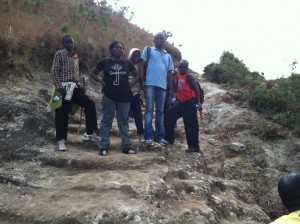 Climbing to the top of Mount Mulanje, third highest mountain on the continent of Africa.