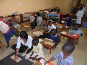 Having our diploma students work during class time with our students really multiplies learning for our children!