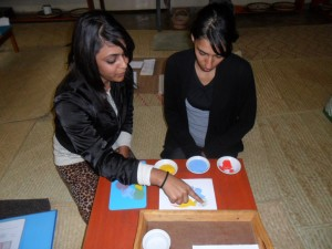 Art Lesson Demonstration! Rubina and Nazrana we love you!
